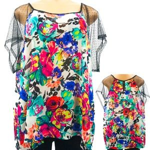 Forever 21 Floral Sheer Blouse